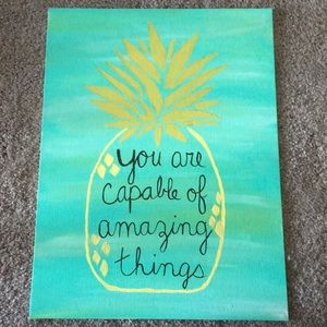 Pineapple Quote Wall Art